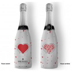Champagne personnalisé Saint Valentin